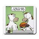 Cow Fast Food Mousepad