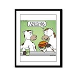 Cow Fast Food Framed Panel Print