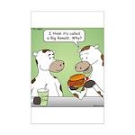 Cow Fast Food Mini Poster Print