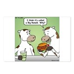 Cow Fast Food Postcards (Package of 8)