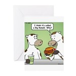 Cow Fast Food Greeting Cards (Pk of 10)