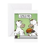 Cow Fast Food Greeting Card