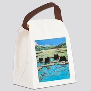 Nature with Yaks Canvas Lunch Bag