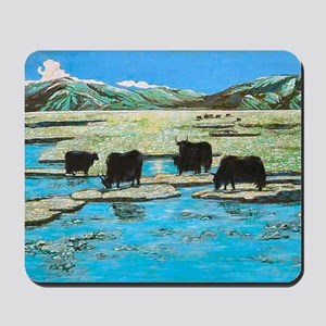 Nature with Yaks Mousepad