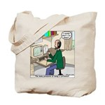 Cartoonist at Work Tote Bag