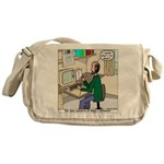 Cartoonist at Work Messenger Bag
