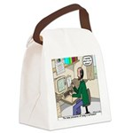 Cartoonist at Work Canvas Lunch Bag