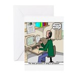 Cartoonist at Work Greeting Cards (Pk of 10)