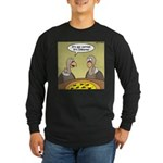 Buzzard Pizza Long Sleeve Dark T-Shirt