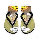 Buzzard Pizza Flip Flops
