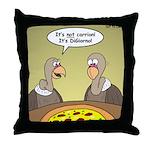 Buzzard Pizza Throw Pillow