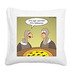 Buzzard Pizza Square Canvas Pillow