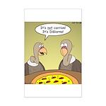 Buzzard Pizza Mini Poster Print