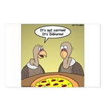 Buzzard Pizza Postcards (Package of 8)