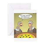 Buzzard Pizza Greeting Card
