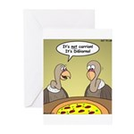 Buzzard Pizza Greeting Cards (Pk of 20)
