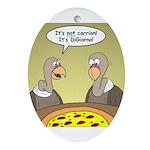 Buzzard Pizza Ornament (Oval)
