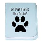 got West Highland White Terrier? baby blanket