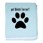 got Welsh Terrier? baby blanket
