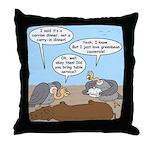 Buzzard Carry-In Dinner Throw Pillow