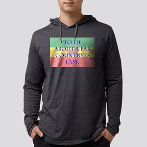 To Lie About A Far County - Amharic Mens Hooded Sh