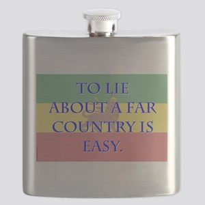 To Lie About A Far County - Amharic Flask