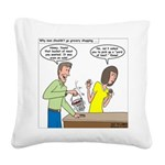 Bucket of Meat Square Canvas Pillow