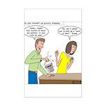 Bucket of Meat Mini Poster Print