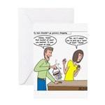 Bucket of Meat Greeting Card