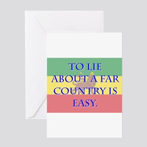 To Lie About A Far County - Amharic Greeting Card
