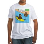Bear Kayaking Fitted T-Shirt