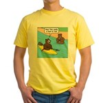 Bear Kayaking Yellow T-Shirt