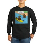 Bear Kayaking Long Sleeve Dark T-Shirt