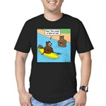 Bear Kayaking Men's Fitted T-Shirt (dark)