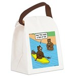 Bear Kayaking Canvas Lunch Bag