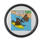 Bear Kayaking Large Wall Clock