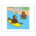 Bear Kayaking Small Poster