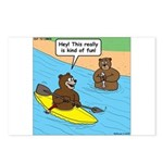Bear Kayaking Postcards (Package of 8)