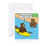 Bear Kayaking Greeting Cards (Pk of 10)