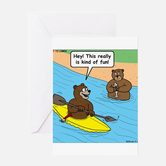 Bear Kayaking Greeting Card