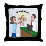 Baby Check Throw Pillow