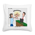 Baby Check Square Canvas Pillow