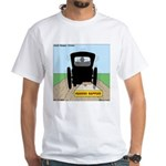 Amish Bumper Sticker White T-Shirt