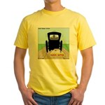 Amish Bumper Sticker Yellow T-Shirt