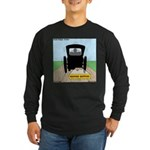 Amish Bumper Sticker Long Sleeve Dark T-Shirt