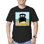 Amish Bumper Sticker Men's Fitted T-Shirt (dark)