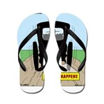 Amish Bumper Sticker Flip Flops
