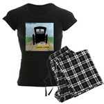 Amish Bumper Sticker Women's Dark Pajamas