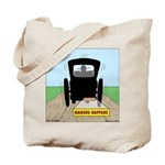 Amish Bumper Sticker Tote Bag