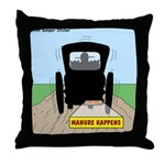Amish Bumper Sticker Throw Pillow